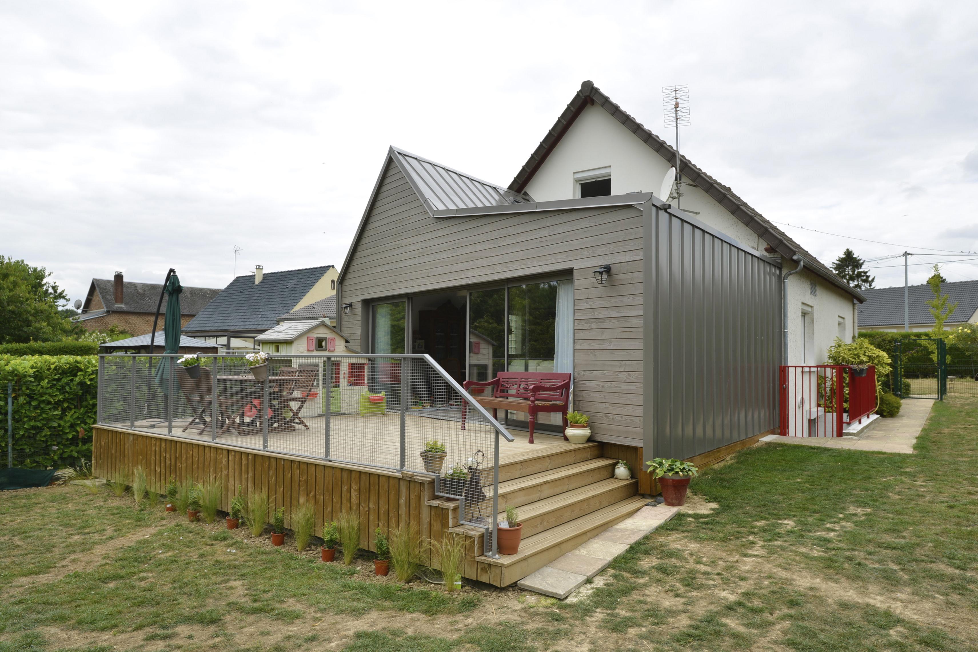 Devis Extension Maison  Villiers-le-Bel ▷ Agrandissement Bois, Acier, Parpaing