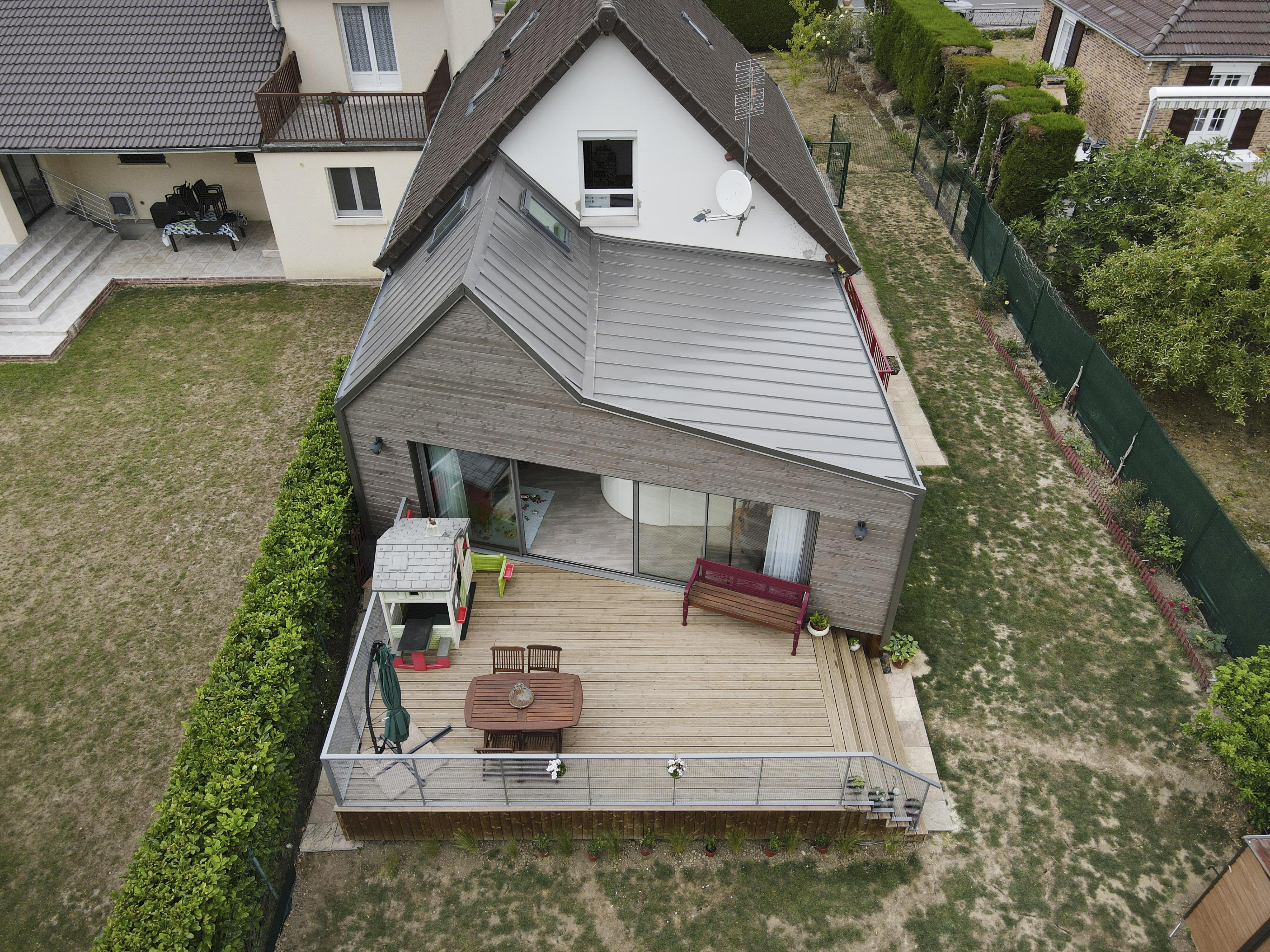 Devis Extension Maison  Combs-la-Ville → Agrandissement Bois, Acier, Parpaing